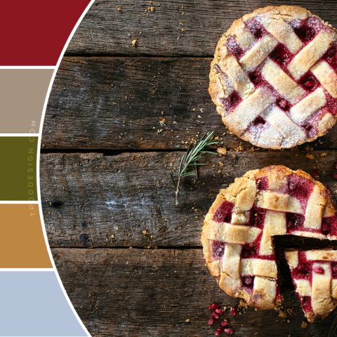 Two Pomegranate Pies Color Schemes