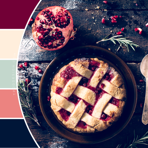 Pomegranate Pie or Tart Color Schemes