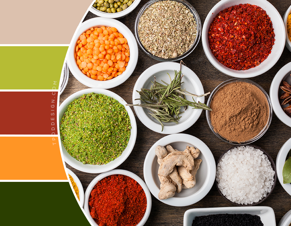 Spices color schemes