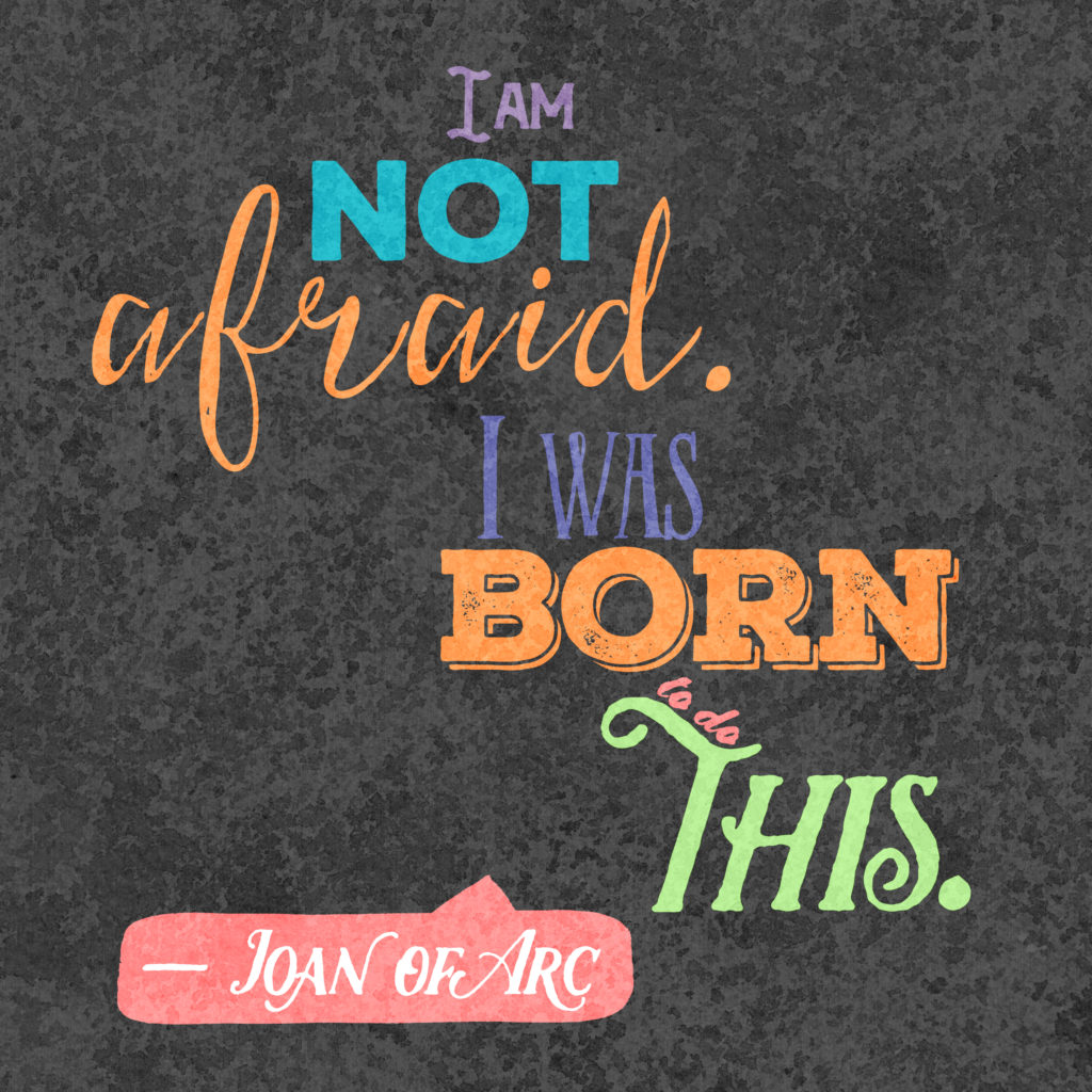 Instagram quote by Joan of Arc